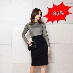 Elegancka bluzka z długim rękawem w kolorze khaki   -35%   http://ift.tt/2gohwKW