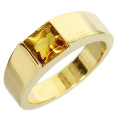Cartier 18K Yellow Gold Citrine Ring US Size 6