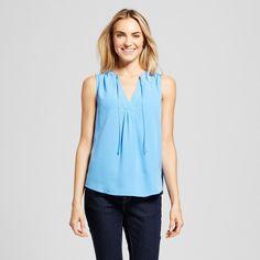 Women's Tie Front Blouse - Merona