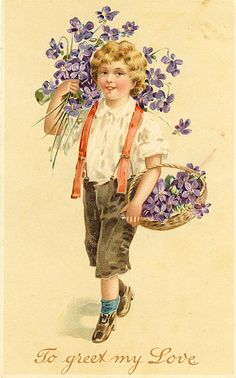 .violets....to greet my love