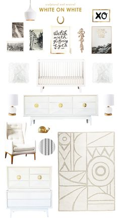I love all the sculptural details in this board.  How lovely are those bedroom suite pieces?