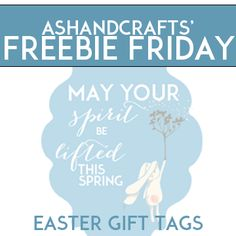 Freebie friday easter gift tags ashandcrafts all things free easter gift tag printables negle Choice Image