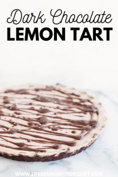This gorgeous dark chocolate lemon tart is full of heavenly flavors! This easy to make recipe is the perfect holiday dessert. Made with healthy ingredients, you will love this yummy dark chocolate treat. Check out our favourite chocolate lemon tart! Best Chocolate Desserts, Decadent Chocolate Cake, Cooking Chocolate, Salted Chocolate, Vegan Dessert Recipes, Tart Recipes, Fun Desserts, Sweet Recipes, Delicious Desserts