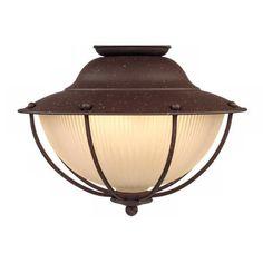 Outdoor Rust Cage Ceiling Fan Light Kit - #24976 | LampsPlus.com