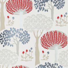 Arthouse Bernwood Red wallpaper - for the office/craft room.