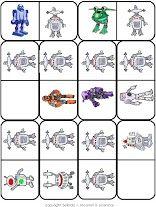 robot domino 3, free printable