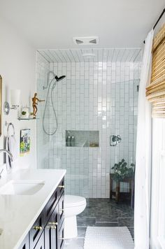 Master Bathroom Remodel - white subway tile shower