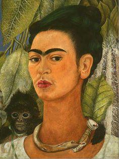 Frida con mono