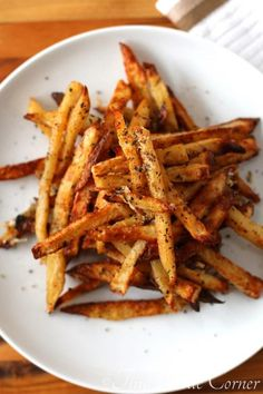 how to get crispy baked french fries (seriously the best seasoned and textured) - tinaschic.com