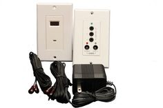 In Wall IR Infrared Remote Control Extender Repeater by HdtvHookup. $45.00. Kit Includes:  1 x In Wall Decora Style Dual Frequency IR Receiver 38Khz & 56Khz with additional status LED   1 x In Wall Decora Style IR Control Block   2 x Decora single gang wall plate   1 x AC Adapter for the IR Control Block   2 x Dual Head IR emitters.   Instructions   Mounting Screws  In Wall IR Receiver Features:  CFL Friendly, allows installations in areas with compact fluorescent lighti...