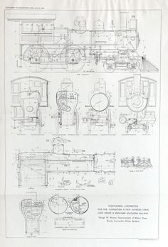 1893 Postersized Antique Engineering Drawing of by bananastrudel, $50.00