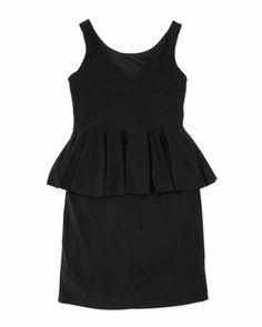 Peplum Dress, Black, 7-14 by Un Deux Trois at Neiman Marcus Last Call.