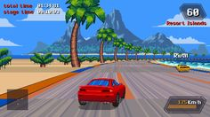 I had some fun with the new backers build of Slipstream by @ansdor and took these screenshots. It's quite the Outrun with speedy scenery, 90s colors, catchy tunes and old-school racetrack rendering....