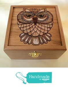 Beautiful Lady Owl Solid Cherry Wood Woodburned Jewelry or Keepsake Box from WillowSwitch Designs http://www.amazon.com/dp/B016PAG6Q0/ref=hnd_sw_r_pi_dp_aPxrwb027606D #handmadeatamazon