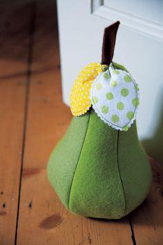 Cute pear door stopper