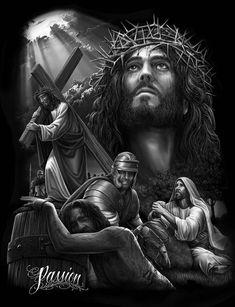 Jesus king of kings keep it 100 christ tattoo, jesus tattoo Christus Tattoo, Jesus Christ Painting, Heaven Tattoos, Jesus Drawings, Jesus Tattoo, Jesus Wallpaper, Pictures Of Jesus Christ, Christian Artwork, Bild Tattoos