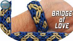 DIY Ultimate Paracord Bracelet Bridge of Love World of Paracord How to make para. Paracord Bracelet Designs, Macrame Bracelet Tutorial, Bracelet Knots, Paracord Projects, Paracord Bracelets, Survival Bracelets, Paracord Braids, Paracord Knots, Tutorials