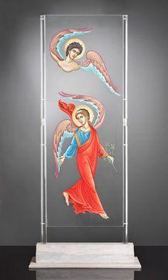 Βλάσιος Τσοτσώνης   Άγγελοι Byzantine Art, Byzantine Icons, Religious Pictures, Religious Art, Religion, Futuristic Interior, Gypsy Rose, Orthodox Icons, Angel Art