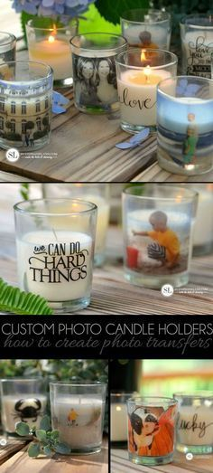 Custom Photo Candle Holders | DIY Packing Tape Transfers #michaelsmakers from By Stephanie Lynn