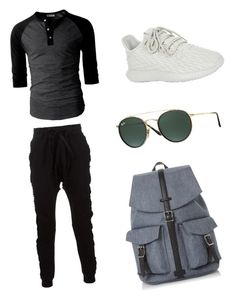 """Cool outfit for teen aged to collage boys"" by eyan-richmond ❤ liked on Polyvore featuring Blood Brother, adidas Originals, Ray-Ban, Dune, men's fashion and menswear"