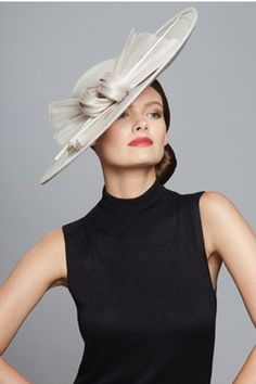 Cashmere Sculptural Side Sweep Hat Main (click to view larger image)