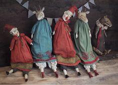 @lostbears Lena Smaga Wooden Dolls