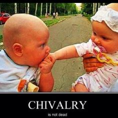 Chivalry: one of the many qualities of the modern gent. Bespoke 2013