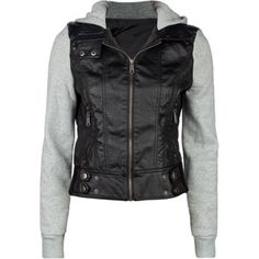 FULL TILT Fleece /Faux Leather Womens Hooded Jacket 180800100 | Jackets & Vests | Tillys.com