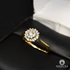 Gold Diamond ring 14K   Solitaire F29-MA0860   Engagement ring   Jewelry Medusa Modern Engagement Rings, Diamond Engagement Rings, Jewelry Box, Jewelery, Ice Ice Baby, Gold Diamond Rings, 14 Karat Gold, Medusa, Or Rose