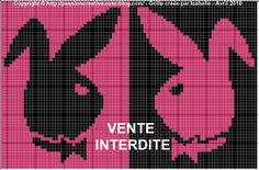 amour - love - play boy - point de croix - cross stitch - Blog : http://broderiemimie44.canalblog.com/