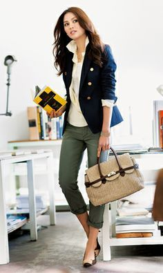 Image result for how to wear olive pants women