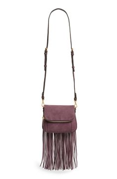 Swingy fringe lends a touch of '70s-inspired drama to this suede Rebecca Minkoff crossbody bag.
