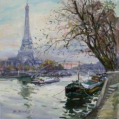 Robert Ricart Crepuscule Tour Eiffel
