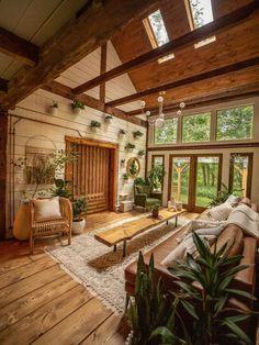 Dream Home Design, My Dream Home, Home Interior Design, Cabin Design, House Design, Future House, Boho Living Room, Cozy Living, Home Decor Inspiration