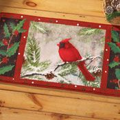 Winter Cardinal Kitchen Floor Mat from Collections Etc.