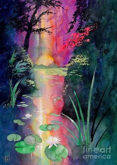 Forest Pond Painting  - Forest Pond Fine Art Print