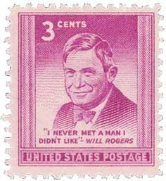 1948 3c Will Rogers - Catalog # 975