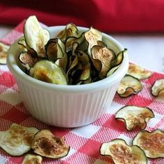 Zucchini Chips - Make zucchini chips in the microwave in under 5 minutes or bake in the oven. Tips for a perfectly crisped chip.