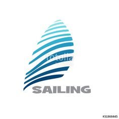 """Download the royalty-free vector """"Logo sailing # Vector"""" designed by puckillustrations at the lowest price on Fotolia.com. Browse our cheap image bank online to find the perfect stock vector for your marketing projects!"""
