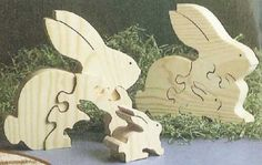 Scroll Sawn Bunny Rabbit Puzzle Plan. Woodworkersjournal.com