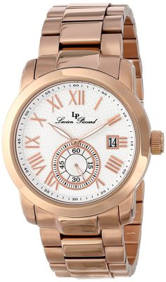 Lucien Piccard Men's LP-10024-RG-22 Valencia Analog Display Japanese Quartz Rose Gold Watch
