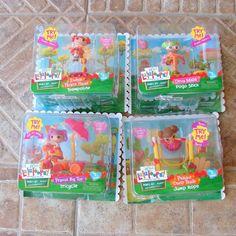 Mini Lalaloopsy 4 Dolls Ready Set Play Dyna Might Ember Peanut Prarie Dusty #LalaloopsyMiniDolls #Dolls