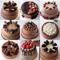 57 Ideas for cake ideas chocolate birthday food - Süslemeler ve şekiller - Chocolate Cake Designs, Chocolate Oreo Cake, Homemade Chocolate, Chocolate Buttercream, Chocolate Birthday Cakes, Chocolate Birthday Cake Decoration, Oreo Cake Recipes, Easy Cake Recipes, Mini Cakes