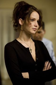 Jenifer Lawrence in Silver Linings Playbook. amazing movie, amazing actress, shes bold, funny smart and absolutely gorgeous, a perfect person.