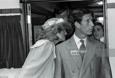 27 June 1984 The prince and Princess of Wales visiting a handicapped centre in Salisbury, Wiltshire.