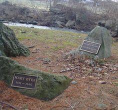 Mary Barrett Dyer's grave in Boston, MA
