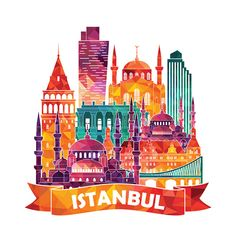 Find Istanbul Detailed Silhouette Vector Illustration stock images in HD and millions of other royalty-free stock photos, illustrations and vectors in the Shutterstock collection. Sea Logo, Color Palette Challenge, Travel Crafts, City Icon, Istanbul Travel, City Illustration, Mural Wall Art, World Cities, Cute Animal Drawings