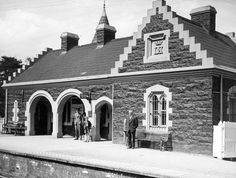 Waiting for the train at Helen's Bay station. Belfast Northern Ireland, Bangor, Steam Engine, Lily Of The Valley, Coat Of Arms, Origins, Waiting, Old Things, Hacks