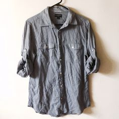 Banana republic medium casual button down shirt Pristine condition!! Very soft fabric. Banana Republic Tops Button Down Shirts