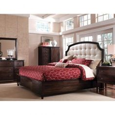 A.R.T. Furniture - Intrigue Leather Panel Bedroom Collection